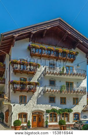 Decoration houses in st. Wolfgang in Austria