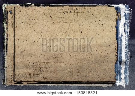 Old grunge background paper page vintage with interesting texture.Exclusive old grunge background paper with photo frame