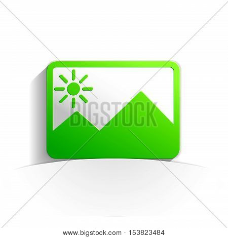 picture in paper icon style full vector