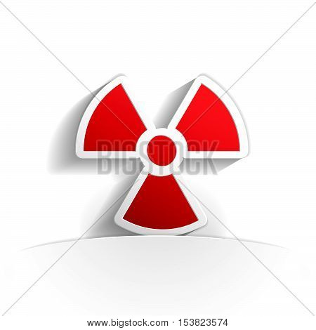 radioactivity icon in paper style full vector