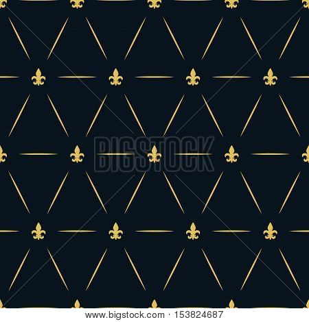 Luxury Royal Seamless Repeat Golden Pattern Wallpaper Lys Flower