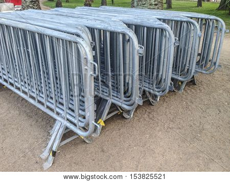 Mobile Fence stacked for next mass event