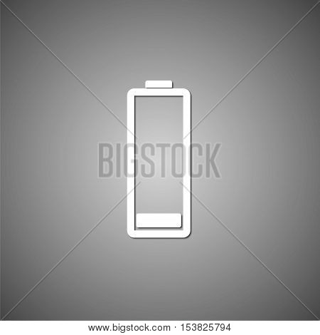 Vector Low battery icon on gray background
