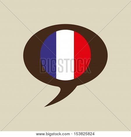 globe sphere flag france country button graphic vector illustration eps 10