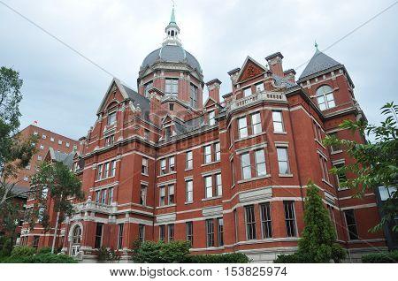 BALTIMORE, USA - AUG 13, 2010: Johns Hopkins Hospital in Baltimore, Maryland, USA.