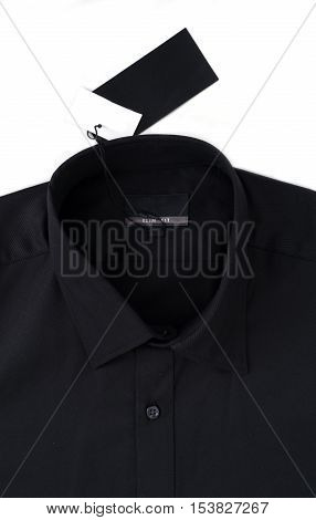 New Black Colour Shirt And Blank Label