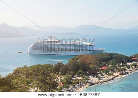 Docked Cruise Ship