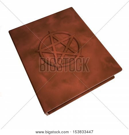 Book With Pentacle Over The Cover