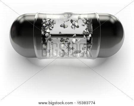 Pill with nanobots