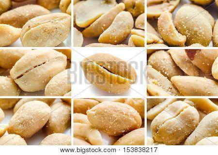 a set of peanuts macro close up