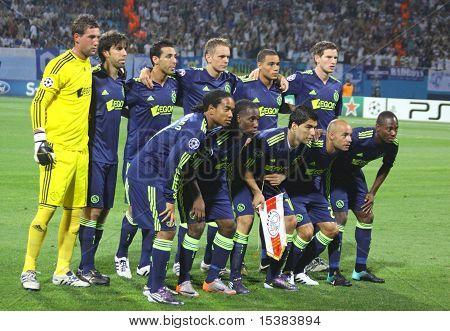 AFC Ajax-Team-Pose für ein Gruppenfoto
