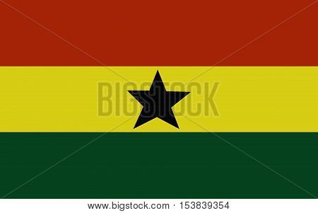 original Flag of Ghana isolated vector in official colors and Proportion Correctly