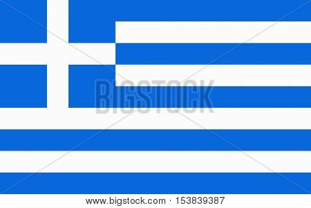 Vector flag of Greece. National symbol of Greece