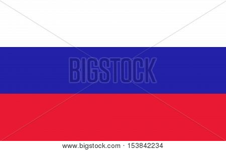 Vector flat style Russian Federation state national flag. Official design of russia flag. Symbol with three horizontal stripes. Independence day, holiday, web button. illustration template. Add text