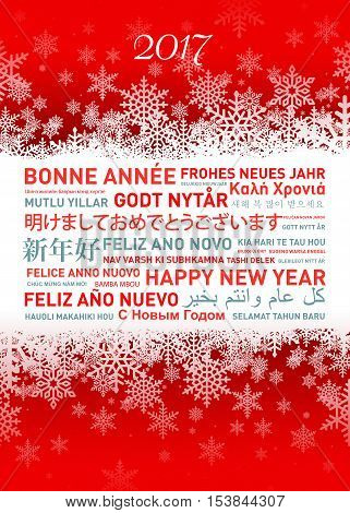 Happy New Year Card From All The World