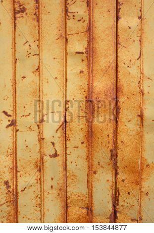 Old Rusty Sheet Metal Wall
