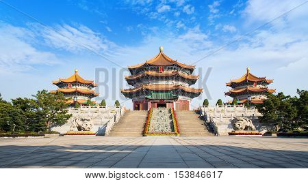 Front of Yuanxuan Taoist Temple Guangzhou GuangDong China