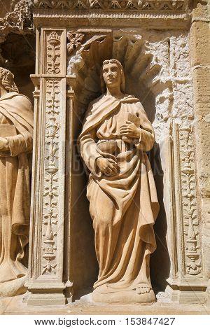 Statue Of John The Apostle At The Saint Thomas Church Of Haro, La Rioja