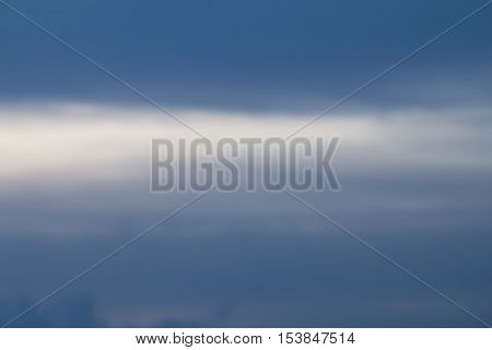 Abstract Blurred White Cloud In Blue Sky Background
