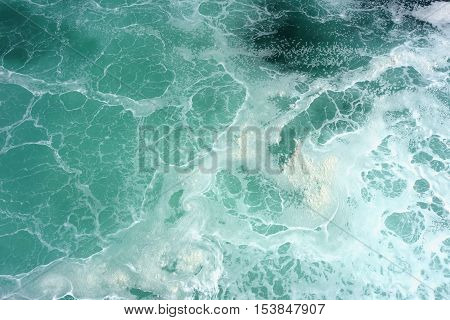 waves on sea surface background. top view