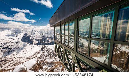 Breathtaking View From The Summit Of Sass Pordoi, Dolomites, Italy
