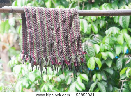 Floor Mat Dry Hanging on clothes line Outside House