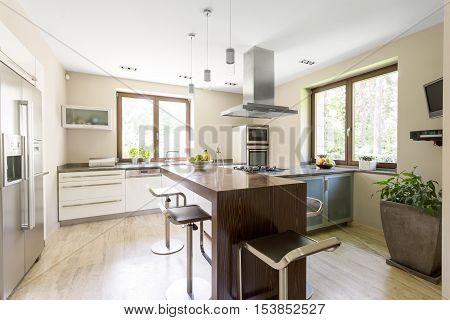 Bright And Spacious Kitchen Area