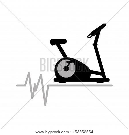 static bike machine gym. rate background icon design vector illustration eps 10