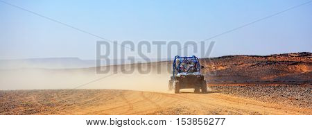 Off Road Car With It's Pilot In Morocco