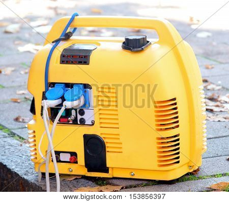 portable generator power yellow power supply mobile