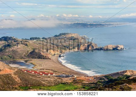 Rodeo Beach and Fort Cronkhite. Golden Gate National Recreation Area, Marin County, California, USA