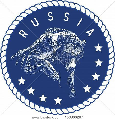 Russia - generic abstract seal which depicts bear and stars