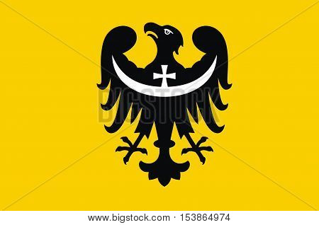 Flag of Lower Silesian Voivodeship or Lower Silesia Province in Poland.