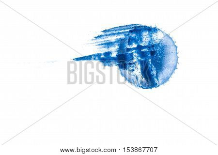 impregnated saturated watercolor stain - painted surface of the paper