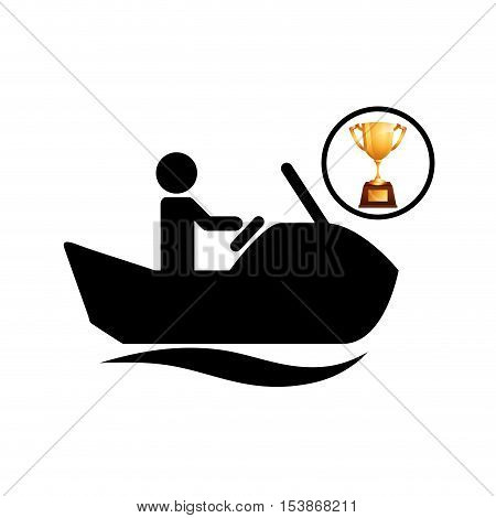 extreme sport avatar jet ski icon vector illustration eps 10