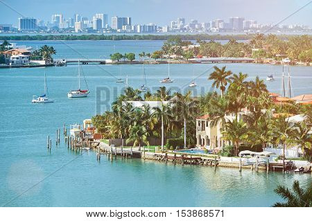 Waterfront In Miami City