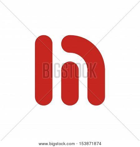 M letter initial logo design, fun m letter logo