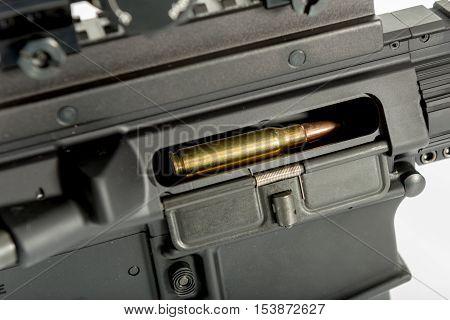 Round In Chamber Of Gun