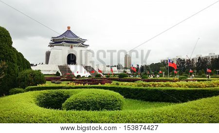 Chiang Kai-Shek Memorial Hall in Taipei. Chiang Kai-shek Memorial Hall is a popular travel destination among tourists visiting Taiwan.