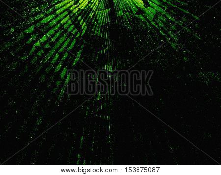 Black and green neon Triangle Abstract background
