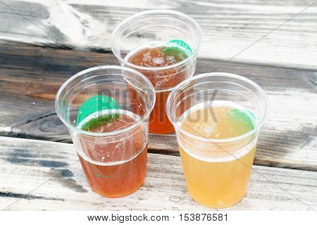 Beer Cups On Table