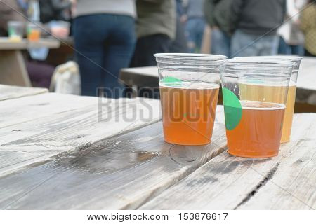 Beer On Picnic Table