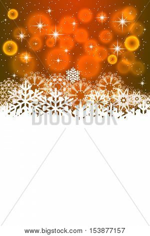 New Year greeting card. Vector christmas background with snowflakes