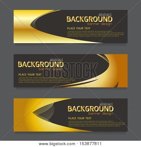 vector background banner Collection horizontal business set templates. modern geometric abstract layout for website design. simple creative cover header. in rectangle size space message text grey and gold