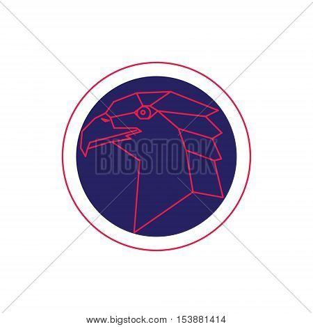 Eagle head abstract isolated. Vector design illustration