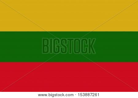 Lithuania flag ,Lithuania national flag illustration symbol.