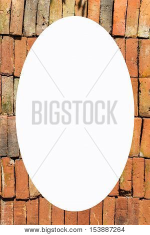 picture frame form Old brick wall , object