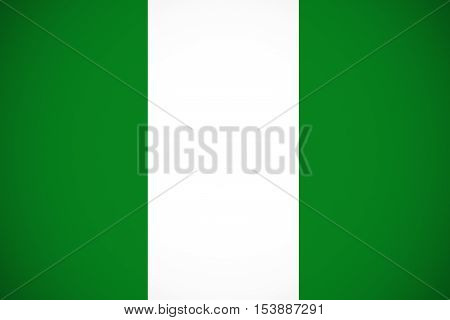 Nigeria flag ,Nigeria national flag illustration symbol.