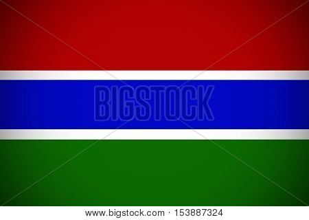 Gambia flag ,Gambia national flag illustration symbol.