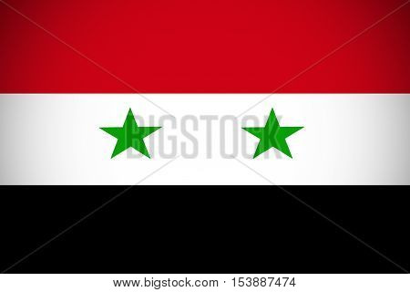 Syria flag ,Syria national flag illustration symbol.